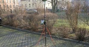 GNSS Empfänger Leica GS 15 mit Handheld getestet für eine Messung in Treuenbrietzen
