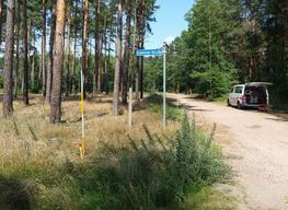 Grundstücksvermessung im Wald bei Borkheide