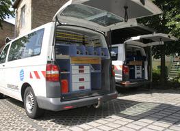 Innenausstattung beider Busse geprüft für eine Messung in Werder