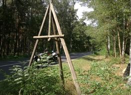 Geodätischer Festpunkt in der Gemeinde Niedergörsdorf