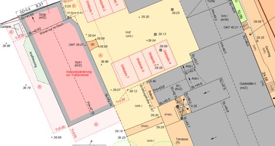 Ausschnitt eines Amtlicher Lageplans in Nuthe-Urstromtal
